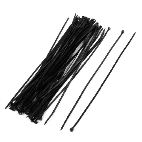 Electrical Cable Tie Nylon Fastener 250Mm X 4Mm Black 50 Pcs