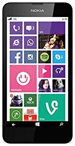Nokia Lumia 630 Single-SIM Smartphone (4,5 Zoll (11,4 cm) Touch-Display, 8 GB Speicher, Windows 8.1) weiß
