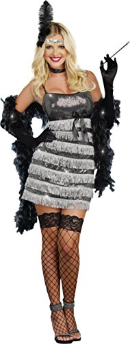 Dreamgirl Womens Fancy Sexy Speak Easy Vixen Flapper 1920'S Adult Themed Costume