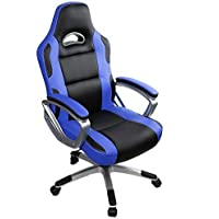 IntimaTe WM Heart Leather Swivel Office Chair (Blue)