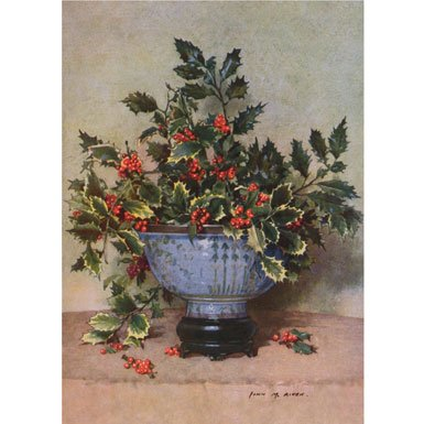 Holly Still Life Pack of 10 Christmas Cards (Large Rectangle)
