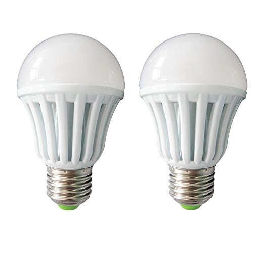 5W E27 Plastic Body White LED Bulb (Pack of 2)