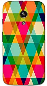 Timpax Hard Back Case Cover Printed Design : Colourful Pattern.Precisely Design For : Motorola Moto-G ( 1st Gen )