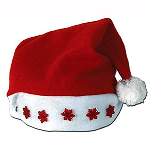 Light-up Santa Hat # Red