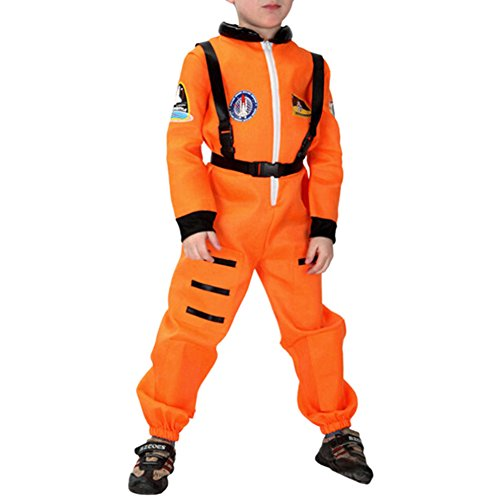 Qianle Boys Astronaut Spaceman Fancy Dress Costume Halloween Cosplay Uniform