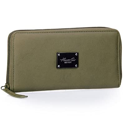 Kenneth Cole New York Leather Call Me Maybe Wallet w/ Phone Pocket (Olive Green)