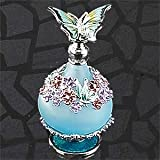 StealStreet SS-A-51636 Butterfly Perfume Bottle, Teal