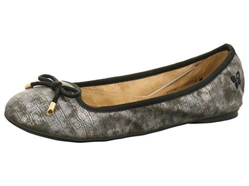 Butterfly Twists Francesca - Folding Ballerina Pumps - Gold Croc, Pewter Croc UK5 - Eu38 - Us7 - Au6 Peltro