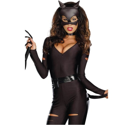 Happy Bag Halloween Cosplay Secret Wishes Sexy Wildcat Catwoman Costume Mask