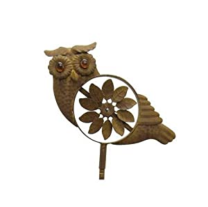 Red Carpet Studios 34261 45-Inch Breeze Buddies Wind Spinner Yard Stake, Owl (Discontinued by Manufacturer)
