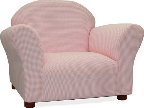 Fantasy Furniture Roundy Chair Gingham, Pink