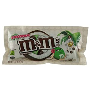 M&M Coconut Chocolate Candies 42.5g x1 bag