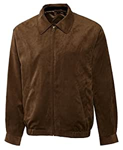Cutter & Buck City Micro Suede City Bomber Jacket - REGULAR SIZES