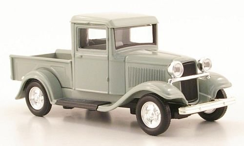 Ford Pick Up, Grey, 1934, Ready Model, Scale-Yat Ming
