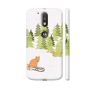 Colorpur Fox Animal Cute Watercolor Winter Artwork On Motorola Moto G4 / Moto G4 Plus Cover Cover (Designer Mobile Back Case) | Artist: UtART