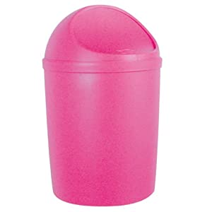 Enzo Rodi 289303 4.5 Litre Push Flap Bin Pink