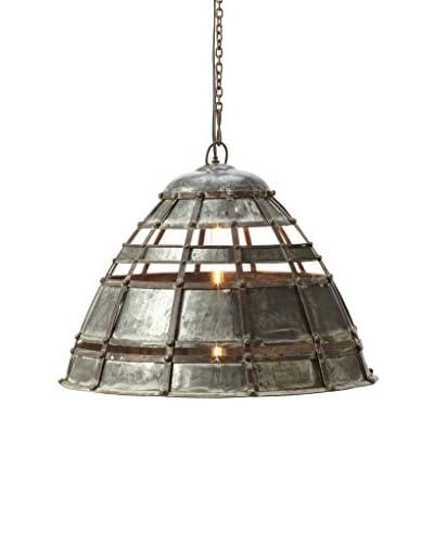 Artistic Lighting Pendant Light, Distressed Silver
