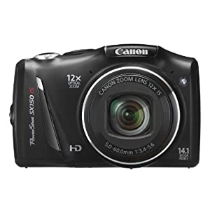 Canon PowerShot SX 150 IS Digitalkamera (14 Megapixel, 12-fach opt. Zoom, 7,6 cm (3 Zoll) Display, bildstabilisiert) schwarz