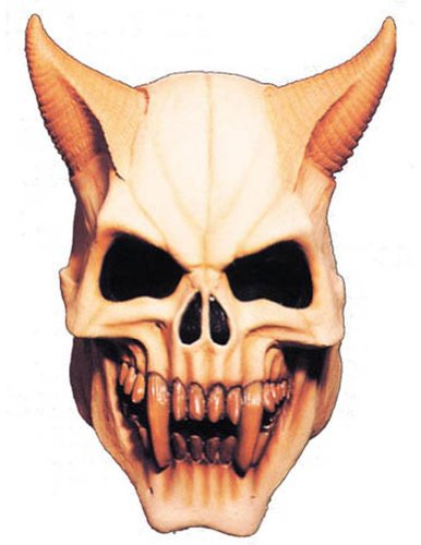 Scary-Masks Devil Skull Mask Halloween Costume - Most Adults