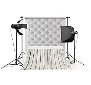LFEEY Hot Sale Vinyl Thin Backdrop Light Absorbtion 3x5ft Photography Background Wooden Floor Theme Checkered Scene Realistic Effect Attractive Backdrop,1(W)x1.5(H)m For Photo Studio Props