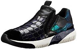 Ash Women\'s Set Fashion Sneaker, Black/Indigo, 36 EU/6 M US