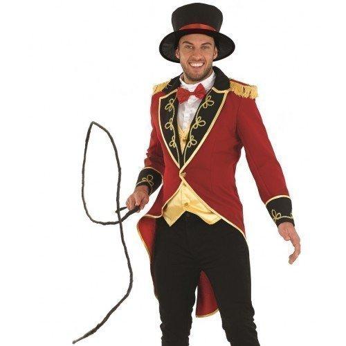 Herren-Kostüm 'Zirkus-Dompteur' - Faschingsverkleidung für Erwachsene - Größen: EU 50 / 52 / 54 - L (EU 52), rot