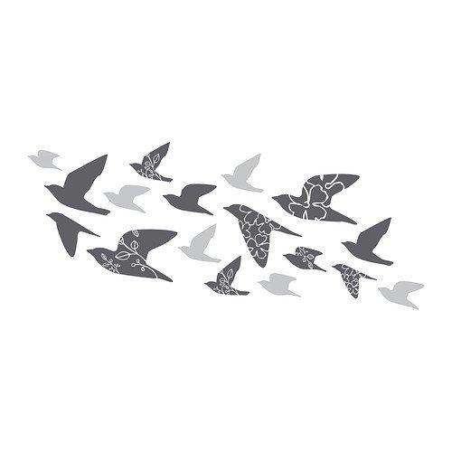 IKEA(イケア) SLATTHULT デコレーションステッカー 鳥の群れ