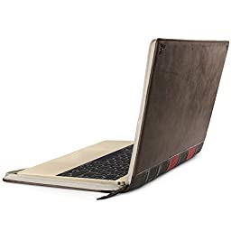 Twelve South BookBook for MacBook | Vintage leather book case/sleeve for 12-inch MacBook