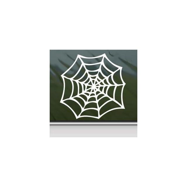 Spider Web White Sticker Decal Car Window Wall Macbook Notebook Laptop Sticker Decal