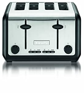 KRUPS KH724D 4-slice Toaster with stainless steel housing,Silver