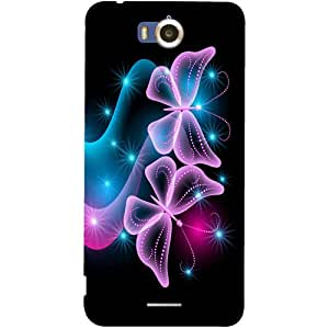 Casotec Butterflies Abstract Design Hard Back Case Cover for Infocus M530