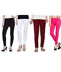 Shiva collections Black/white/maroon/pink cotton legging