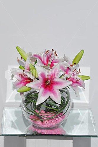 stargazer-lily-pink-kunstlerische-green-stems-blumenarrangements
