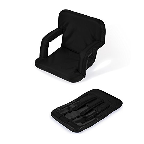 Portable Multiuse Adjustable Recliner Stadium Seat by Trademark Innovations (Black) (Picnic Seat compare prices)