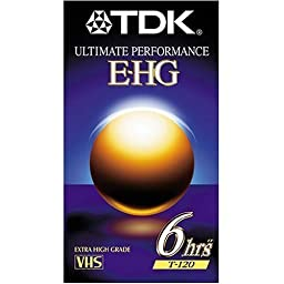 TDK 9 Pack Extra High Grade T-120 Video Tapes