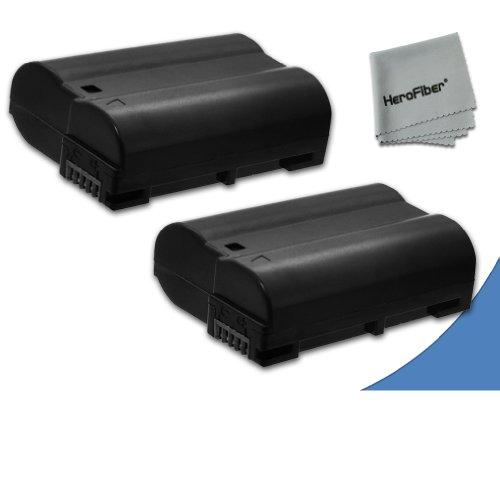 2 High Capacity Replacement Nikon En-El15 Batteries For Nikon D750, Nikon D7000, D7100, D800, D800E, D600, D610, 1V Dslr Cameras