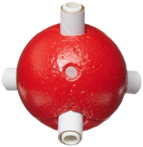 "Molecular Models Red Polystyrene Tetrahedral Oxygen Atom Center, 2"" Diameter"