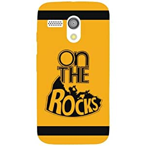 Motorola Moto G Back Cover - On The Rocks Designer Cases