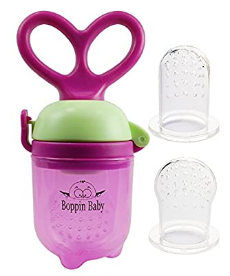 Baby Food Feeder Grow With Me Set | Baby Fruit Feeder | Baby Teething Toy | Teether Nibbler by Boppin Baby that we recomend personally.
