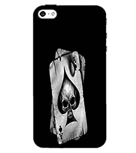 APPLE IPHONE 4S SKULL CARD Back Cover by PRINTSWAG