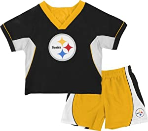 Pittsburgh Steelers Toddler Raglan Crew Shirt and Shorts Combo Pack at SteelerMania