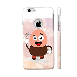 Colorpur Say Hi Cartoon Designer Mobile Phone Case Back Cover For Apple iPhone 6 / 6s with hole for logo | Artist: Designer Chennai