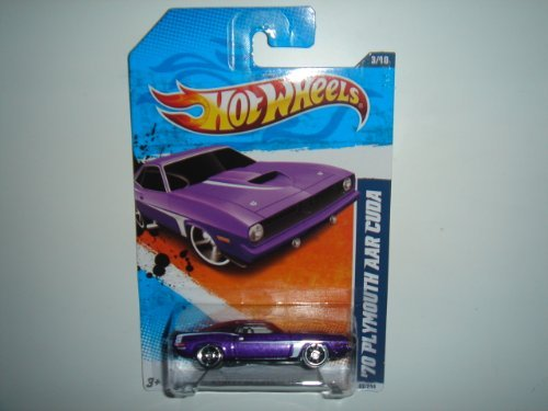 2011 Hot Wheels ''70 Plymouth AAR Cuda Purple #83/244 - 1