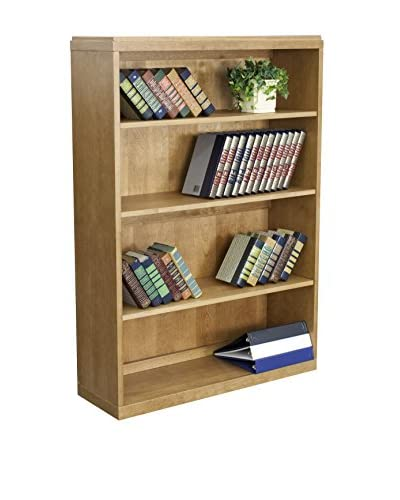 Regency 4-Shelf Bookcase, Medium Oak