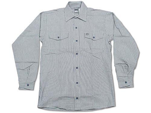 [ビッグビル] BIGBILL 193 長袖ワークシャツ ヒッコリーストライプ 米国製