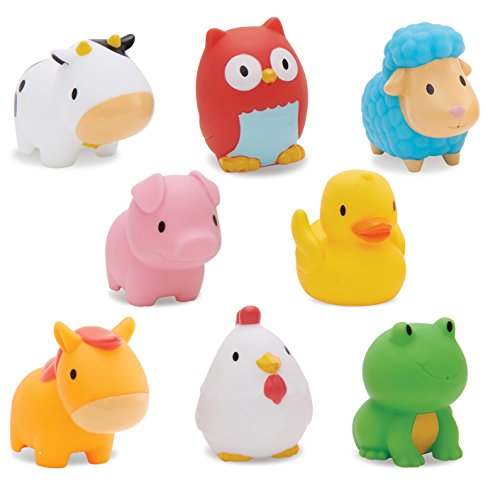 Munchkin Squirtin Bath Toy, Barnyard Friends Add Bath