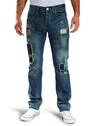 Desigual Bound Straight Men's Jeans Blue 29W xL35