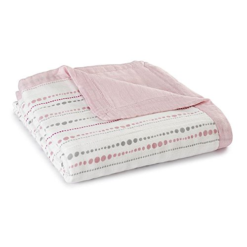 aden + anais Tranquility Beads and Solid Rose Bamboo Dream Blanket - 1