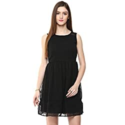 Honey by Pantaloons Women's Dress Black_ 2XL
