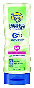 Banana Boat Sunscreen Protect and Hydrate Moisturizing Broad Spectrum Sun Care Sunscreen Lotion - SPF 50, 6 Ounce
